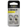Nite Ize S-Biner MicroLock Carabiner 2-Pack Stainless